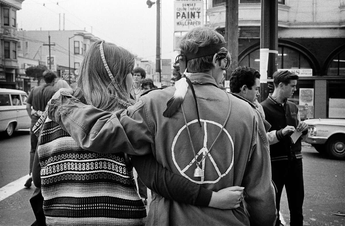 The corner of Masonic and Haight streets in 1967.