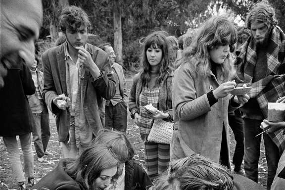 Diggers giving out food in Golden Gate Park