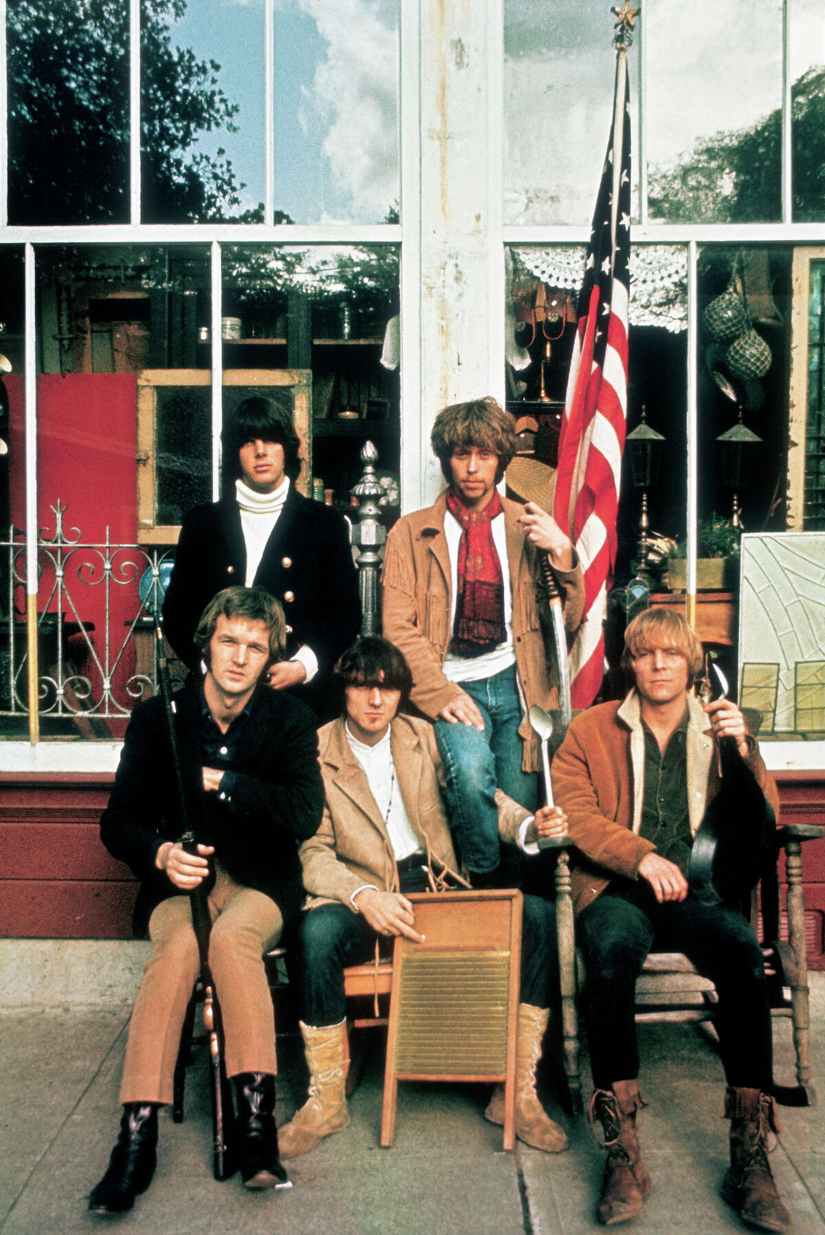 Cover shot for Moby Grape's debut album for Columbia Records shot in San Rafael, CA, 1967