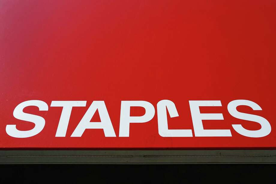Staples Inc., the office-supply chain that's pursuing an e-commerce makeover, rose the most in more than four years after the Wall Street Journal reported that it's in takeover talks. Photo: Associated Press /File Photo / Copyright 2017 The Associated Press. All rights reserved.