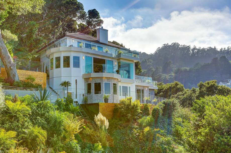Sausalito's 123 Woodward Ave. is a four-bedrom trilevel with more than 5,500 square feet of living space. Photo: Jason Wells Photography