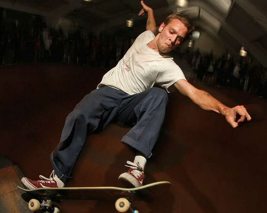 Pro skateboarder Raney Beres of San Antonio in action. Photo: Courtesy Photo /Flickr
