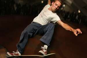 Pro skateboarder Raney Beres of San Antonio in action.