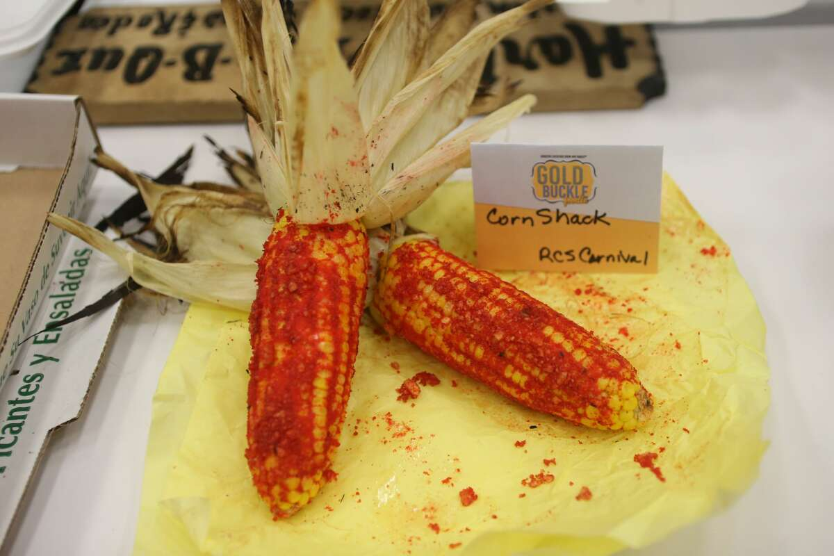 The Corn Shack corn from RCS Carnival on display during judging for the Gold Buckle Foodie Awards inside NRG Center Thursday, March 9, 2017, in Houston.