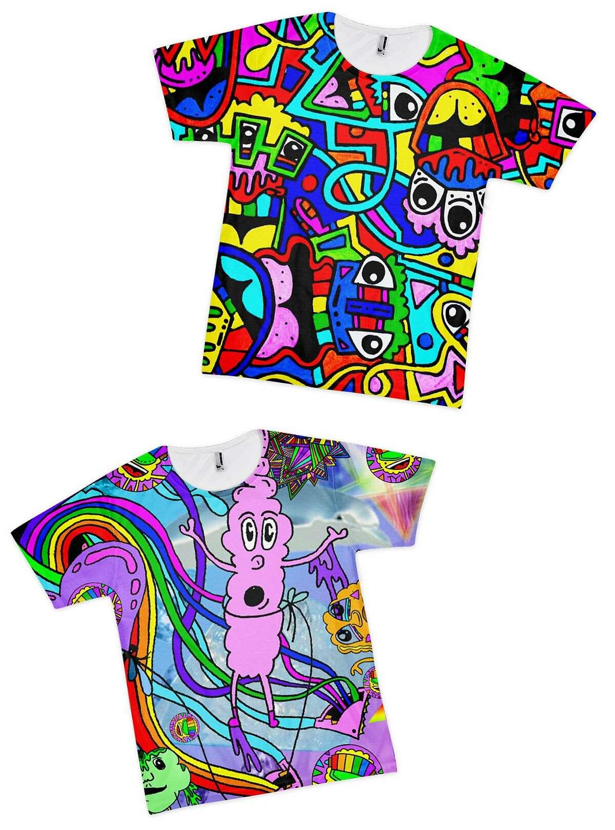 New York artist Tyler Wallach's t-shirt designs.