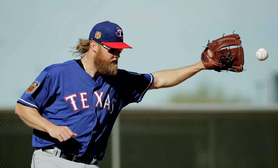 Texas Rangers pitcher Andrew Cashner has been shutdown due to bicep soreness. Photo: Charlie Riedel, STF / Copyright 2017 The Associated Press. All rights reserved.
