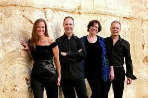 The SOLI Chamber Ensemble comprises, from left, clarinetist Stephanie Key, violinist Ertan Torgul, pianist Carolyn True and cellists David Mollenauer.