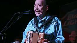 Legendary accordionist Flaco Jiménez, seen in 2017, will be among the musicians performing at San Antonio's New Year's Eve celebration.