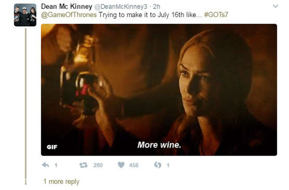 Game of Thrones fans shared their excitement on Twitter after HBO announced the long-awaited premiere date for Season 7 of the hit show. (Source: Twitter)