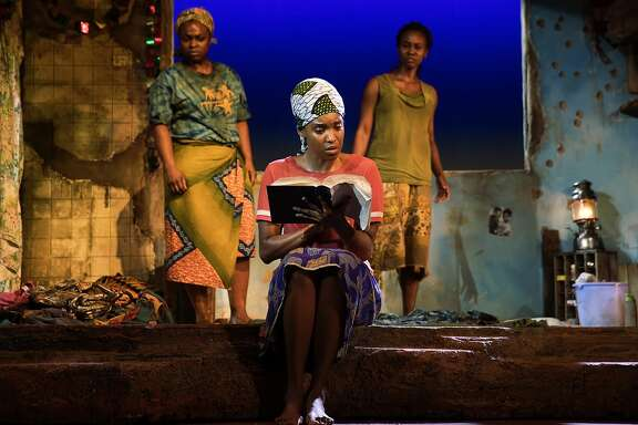 "Stacey Sargeant, Ayesha Jordan and Joniece Abbott-Pratt �in ""Eclipsed"" at the Curran."
