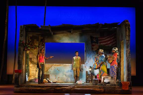 "Adeola Role, Joniece Abbott-Pratt, Stacey Sargeant, and Ayesha Jordan in ""Eclipsed"" at the Curran."