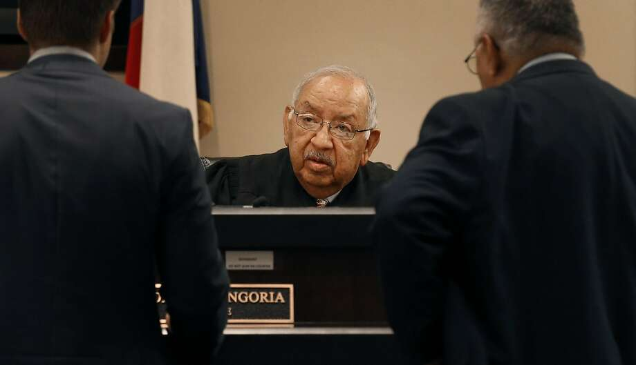Judge John Longoria of Bexas County, Texas, criticized Immigra tion and Customs Enforcement agents for arresting a man outside the court who had left a pretrial meeting in his DWI case. Photo: Kin Man Hui, San Antonio Express-News
