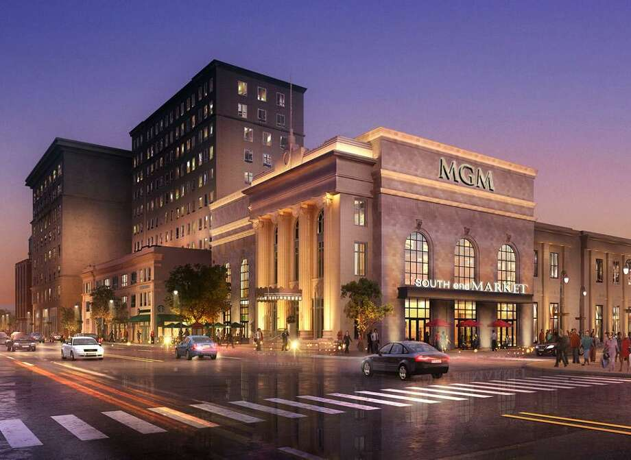 An artist's rendering of MGM Springfield, a resort casino to be built in Springfield, Mass. Photo: Contributed Photo / Contributed Photo / Connecticut Post Contributed