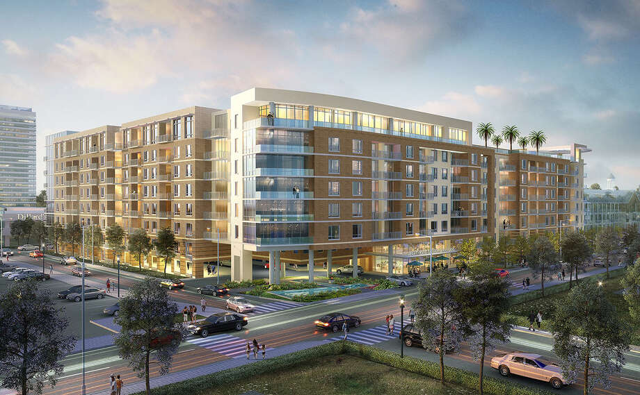 Rendering of Memorial City midrise residential building designed by Ziegler Cooper. Photo: Courtesy Of MetroNational