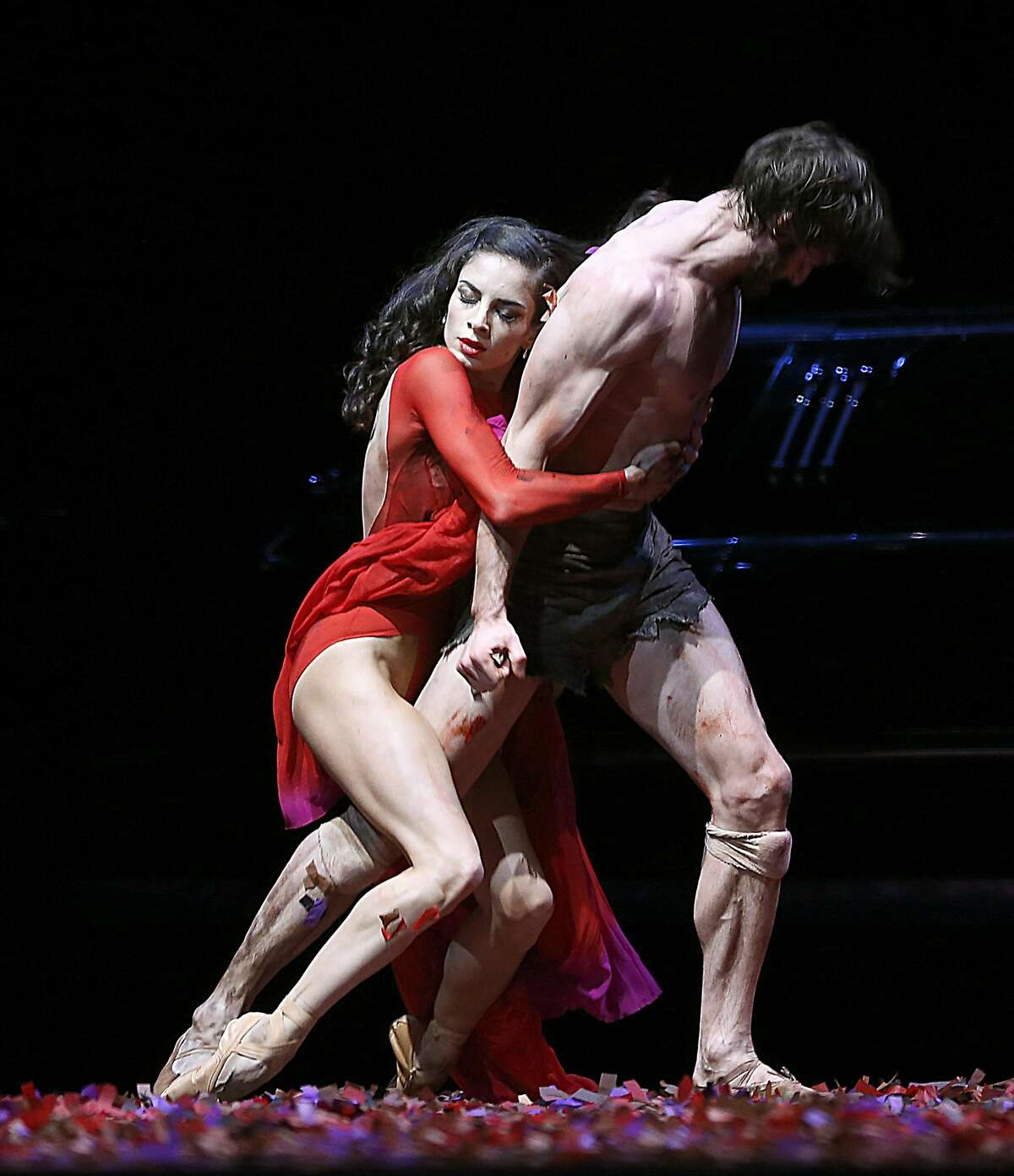 Doris Andre and Aaron Robison during a dress rehearsal of Arthur Pita�s Salome, at the Opera House of San Francisco on March 9, 2017, in San Francisco, Calif.