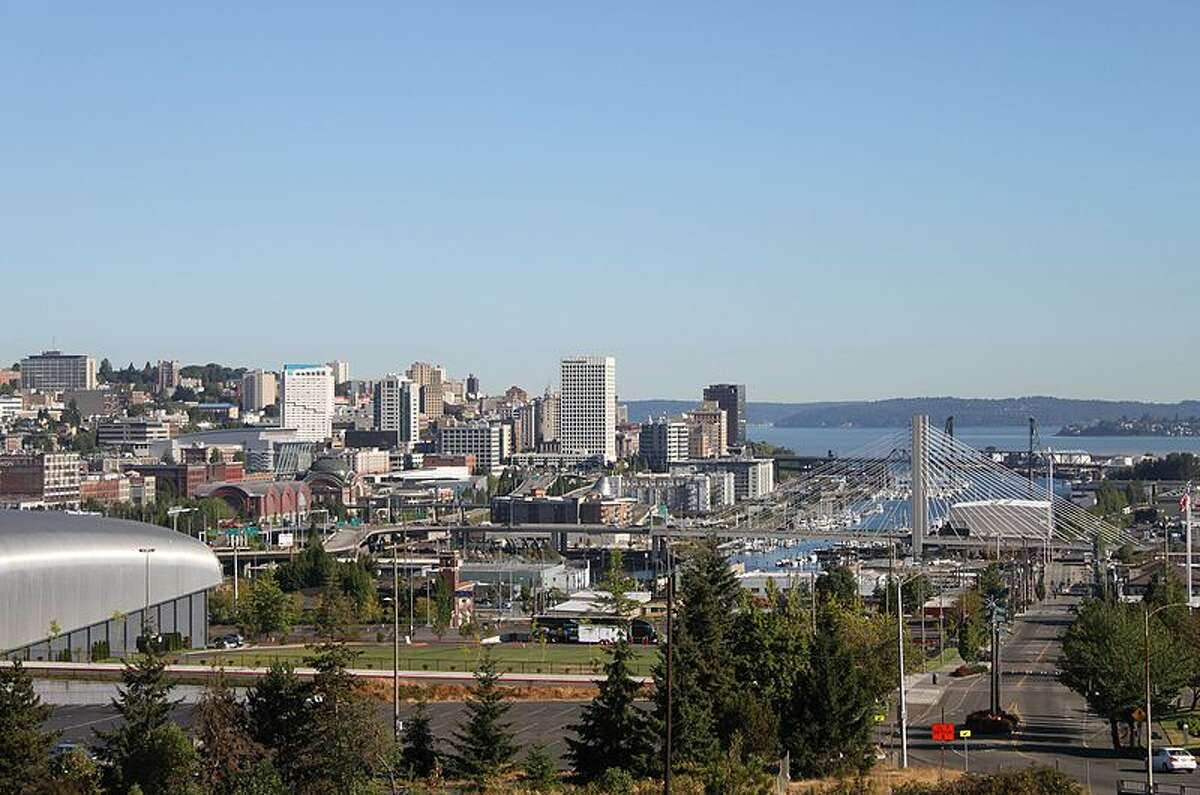 15. Tacoma - 39.57 inches of rainfall per year on average The 'other' city of Western Washington, Tacoma is a smaller, wetter and more industrial southern Puget Sound counterpart to Seattle.