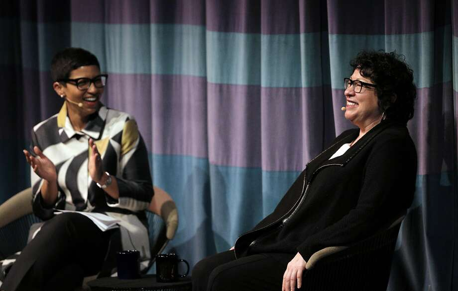 Associate Supreme Court Justice Sonia Sotomayor in conversation with Melissa Murray, Interim Dean UC Berkeley School of Law at Zellerbach Hall in Berkeley, Calif., on Thursday, March 9, 2017. Photo: Carlos Avila Gonzalez, The Chronicle