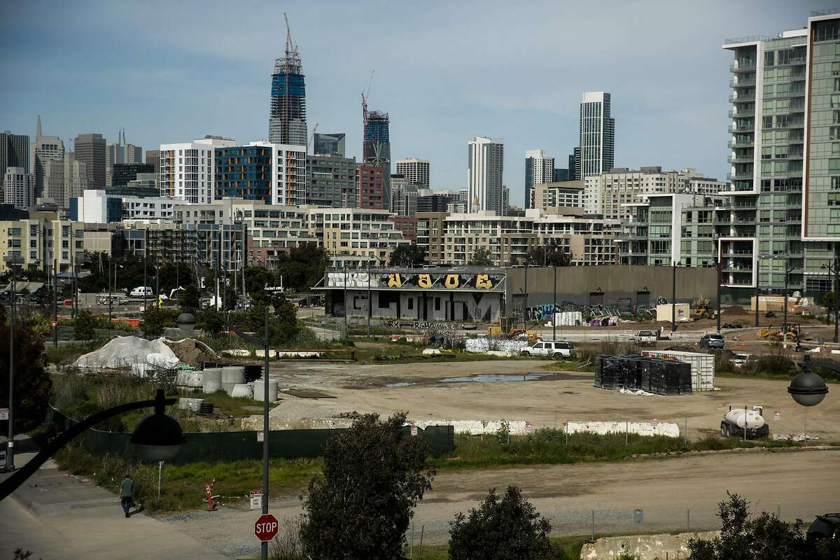 An empty plot of land is seen in the Mission Bay neighborhood of San Francisco, California, on Thursday, March 9, 2017.