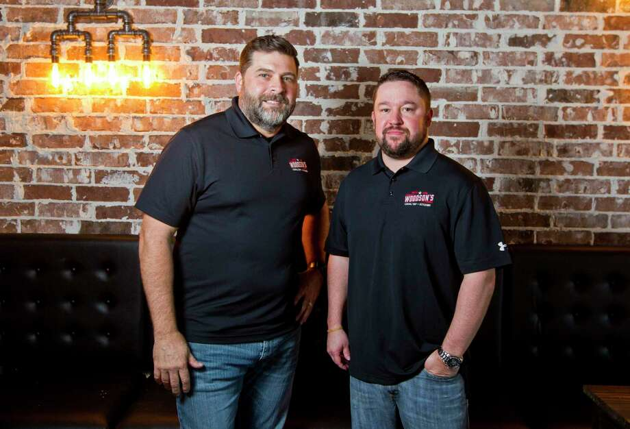 Co-owners Adam Lee and Todd Weaver open Woodson's Local Tap & Kitchen this Saturday at 11 a.m. The new bar and restaurant, located near FM 1488 and Carriage Hills Blvd in Conroe, features 24 local beers on tap. Photo: Jason Fochtman, Staff Photographer / © 2017 Houston Chronicle
