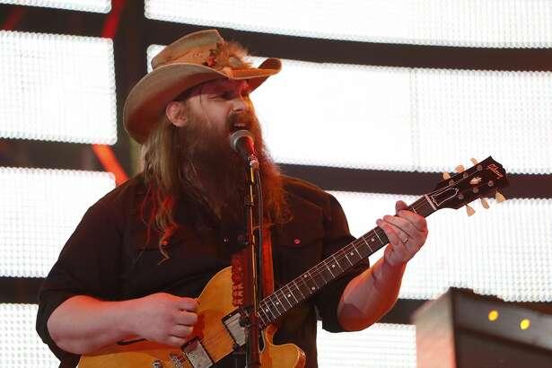 Chris Stapleton performs at the Houston Livestock Show and Rodeo, at NRG Park, Thursday, March 9, 2017, in Houston.  ( Karen Warren / Houston Chronicle )