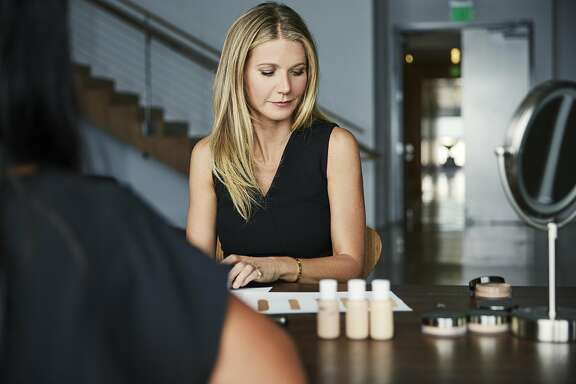 Juice Beauty Founder Karen Behnke and the brand's creative director, Gwyneth Paltrow, talked about new product launches in February at the company's San Rafael headquarters.