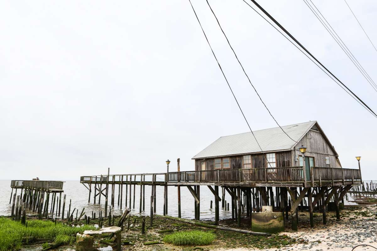 An abandoned home stands at Bay Point Marina in Cedarville, New Jersey, on June 28, 2016.