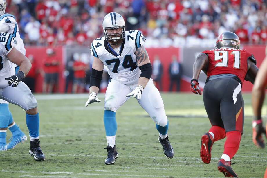 TAMPA, FL - JANUARY 01: Mike Remmers #74 of the Carolina Panthers in action during the game against the Tampa Bay Buccaneers at Raymond James Stadium on January 1, 2017 in Tampa, Florida. The Buccaneers defeated the Panthers 17-16. (Photo by Joe Robbins/Getty Images) Photo: Joe Robbins/Getty Images