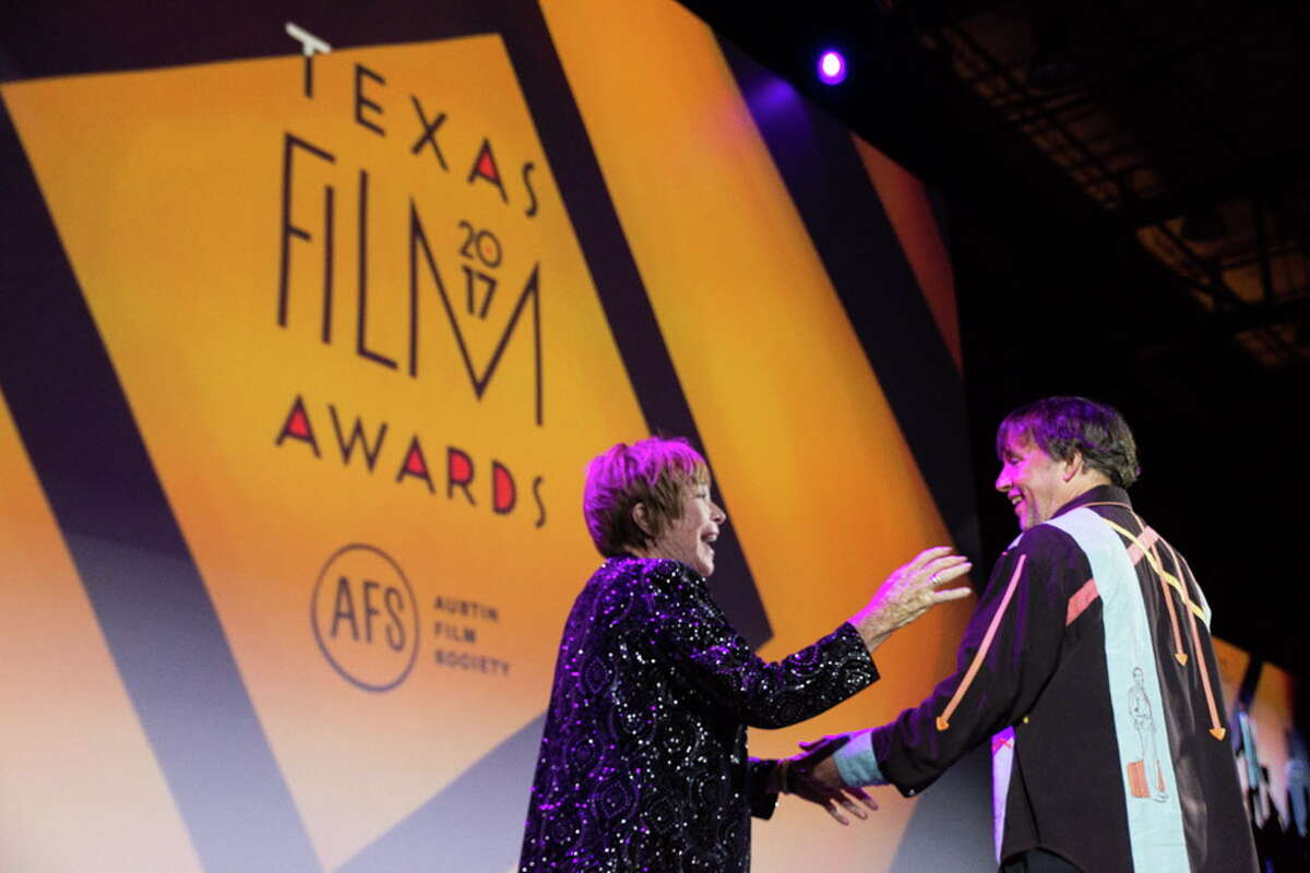 Actress Shirley MacLaine accepts both the Lifetime Achievement Award and the Star of Texas Award for