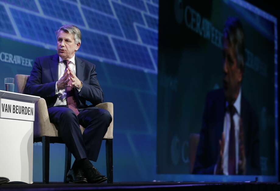 Ben van Beurden, CEO of Royal Dutch Shell plc., speaks during CERAWeek by IHS Markit Thursday, March 9, 2017, in Houston. ( Melissa Phillip / Houston Chronicle ) Photo: Melissa Phillip/Houston Chronicle