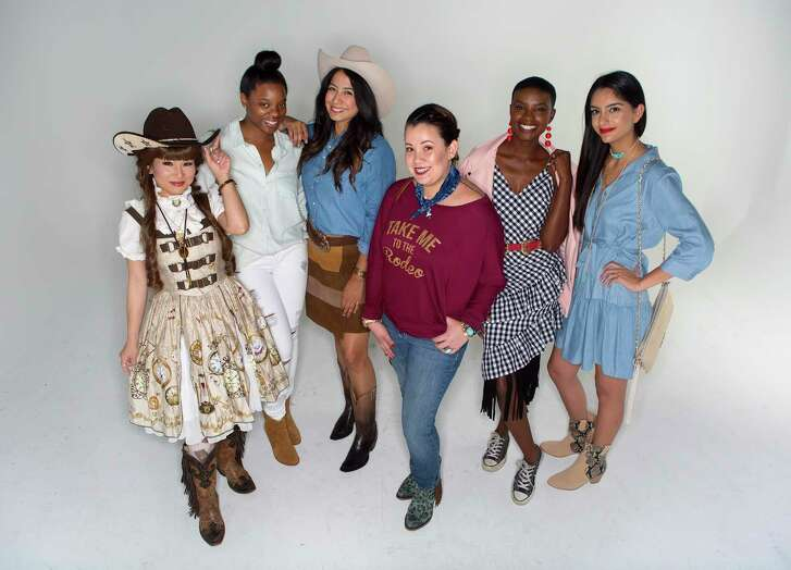 models her Rodeo Houston style, Tuesday, March 7, 2017, in Houston. ( Mark Mulligan / Houston Chronicle )