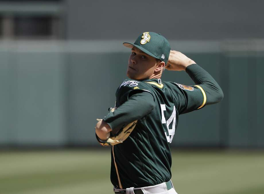 Oakland Athletics' Sonny Gray throws during a spring training baseball game against the Arizona Diamondbacks, Tuesday, March 7, 2017, in Scottsdale, Ariz. (AP Photo/Darron Cummings) Photo: Darron Cummings, Associated Press