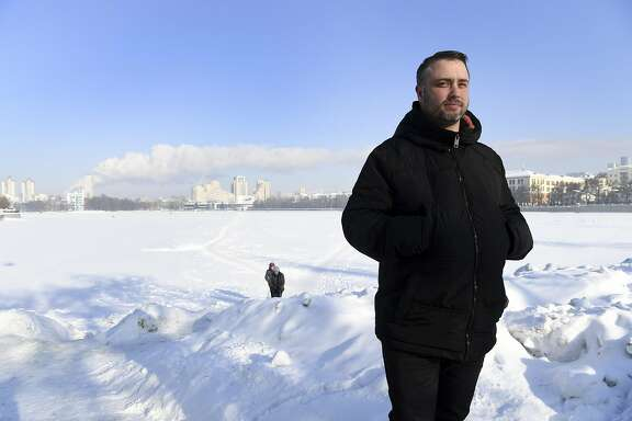 """Louis Marinelli, 30, the president of the secessionist Yes California campaign, in Yekaterinburg, Russia, Feb. 11, 2017. Even though the """"Calexit"""" has virtually no chance of succeeding � it would require an amendment to the Constitution � it has gained some traction in the state since the election of Donald Trump. """"We just had that surprise event of Donald Trump winning, and it just dumped thousands and thousands of people behind our campaign all of a sudden,� said Marinelli. (James Hill/The New York Times) -- NO SALES --"""