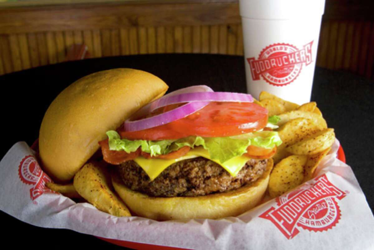 Fuddruckers, a fast-casual restaurant chain, specializes in hamburgers.