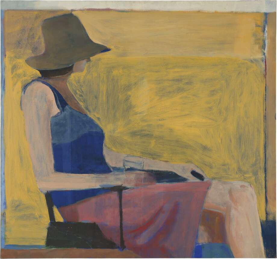 "Richard Diebenkorn, ""Seated Figure with Hat"" (1967)."