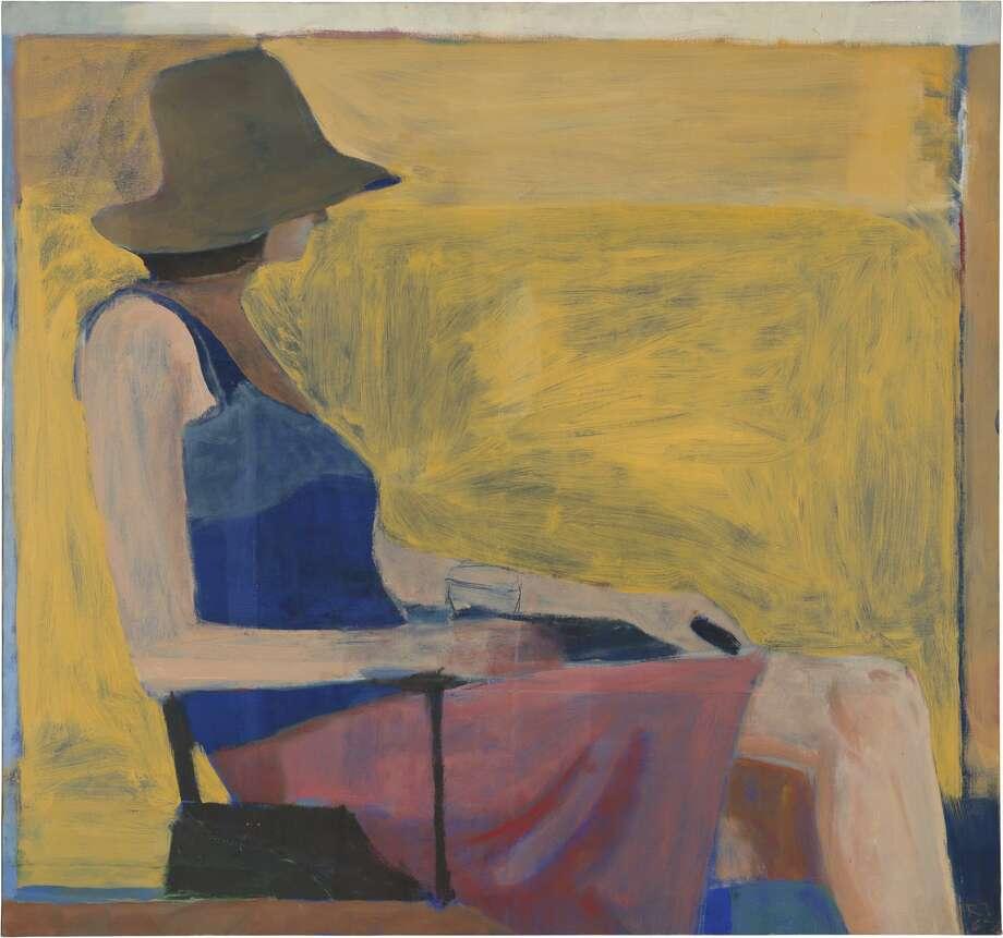 "Richard Diebenkorn, ""Seated Figure with Hat"" (1967)."