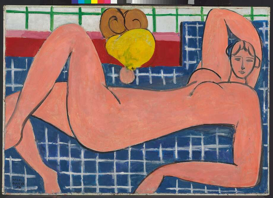 """Large Reclining Nude,"" 1935, from ""Matisse: Life in Color."" The ""Matisse/Diebenkorn"" exhibition at SFMOMA drew a very polite, apolitical crowd on a recent weekday. Photo: Courtesy Photo, San Antonio Museum Of Art"