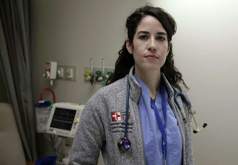 Cambridge Hospital first-year resident Samantha Harrington worries that new work limits letting rookie doctors work up to 24 hours straight will endanger residents' and patients' safety. Photo: Steven Senne /Associated Press / Copyright 2017 The Associated Press. All rights reserved.