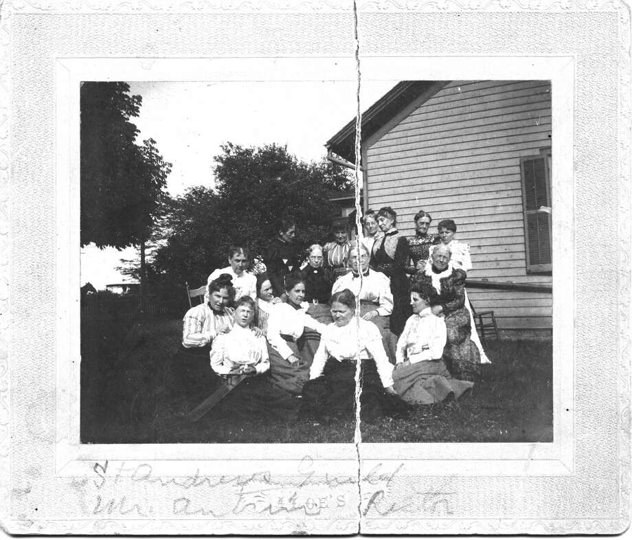 Pictured are some of the ladies in the St. Andrew's Guild. They are from the same Edwardsville families that will be talked about in the program. Included in the photograph are Fannie Whitford, Bertha Boeschenstein, Mary Wharff, Minnie Brown, Alice Burroughs, Sarah Jones and others. Photo: For The Intelligencer