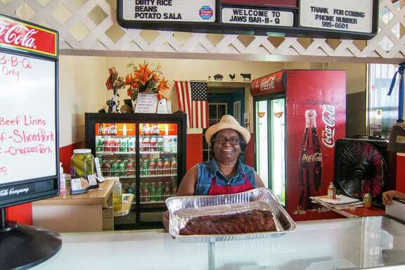 Punarbassi Sandy, pitmaster at Jaws Bar-B-Que in Port Arthur