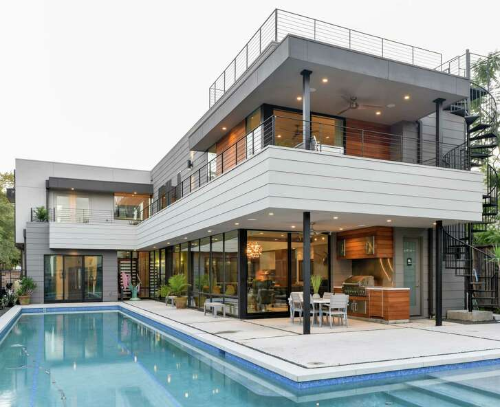 Gwen and Jonas Referente are the owners of this modern home  in the Montrose/Museum District area.