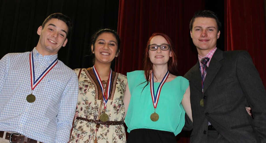 The Tribe Theatre Company One Act Play walked away with several awards: All Star Technician - Brexton Desormeaux, Honorable Mention All Star Cast - Samantha Delallata, and All Star Cast - Cory Rancher and Doremi Silva. Photo: Submitted