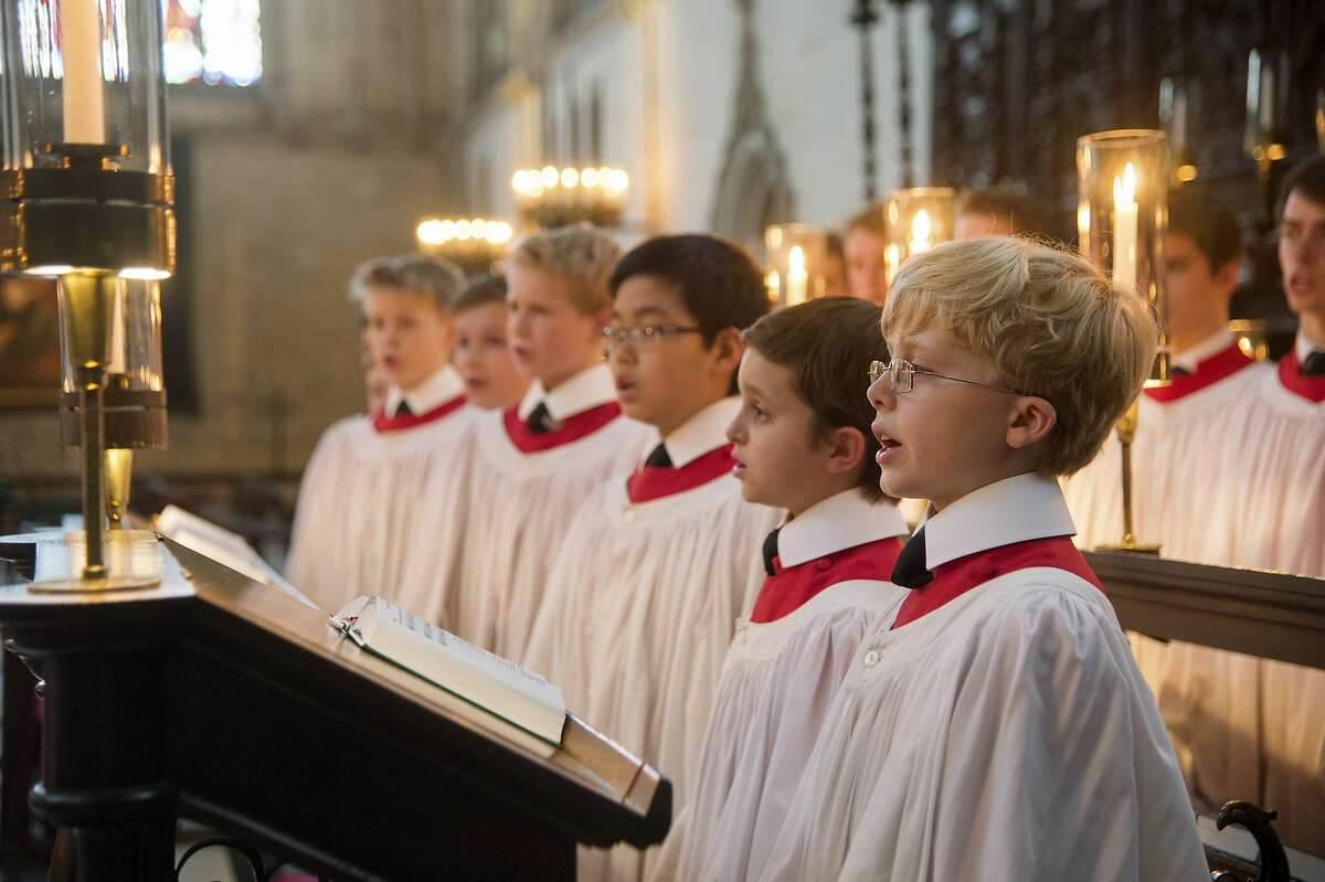 The young singers of the Choir of King's College, Cambridge