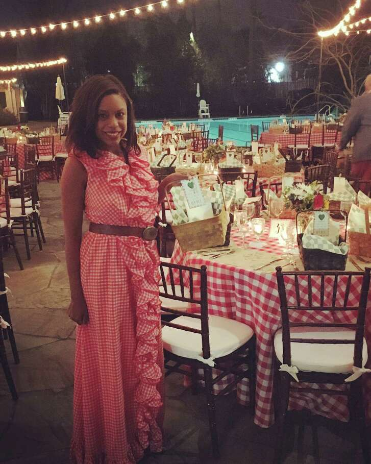 Gingham fit right in at the Memorial Park Conservancy's green gala.