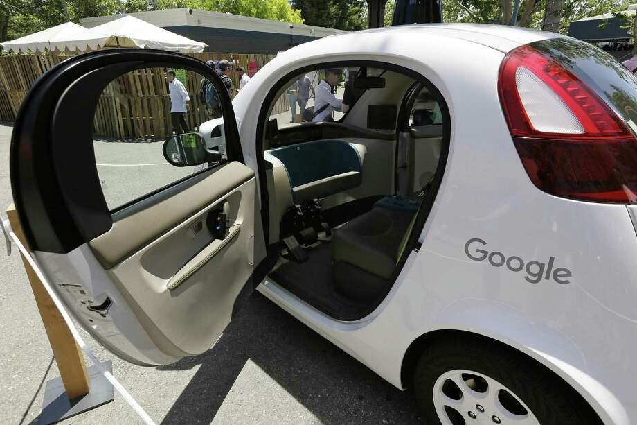 Cars with no steering wheel, no pedals and nobody at all inside could be driving themselves on California roads by the end of 2017, under proposed new rules that would give a powerful boost to the technology from the nation's most populous state. Photo: Associated Press /File Photo / Copyright 2017 The Associated Press. All rights reserved.