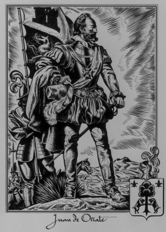Spanish explorer Juan de Oñate, in a rendering by El Paso artist Tom Lea, colonized the El Paso area. Along with Francisco Vasquez de Coronado and Hernando de Soto, such explorers are given short shrift in U.S. and Texas textbooks. Photo: /Houston Chronicle / Handout