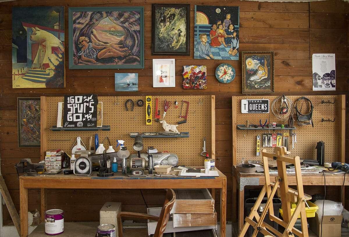 Inside Ana Fernandez's home studio.