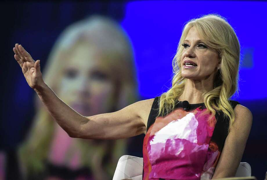 "Presidential advisor Kellyanne Conway speaks at the Conservative Political Action Conference (in Washington, D.C. A reader explains her use of the term ""alternative facts."" Photo: Bill O'Leary /The Washington Post / The Washington Post"