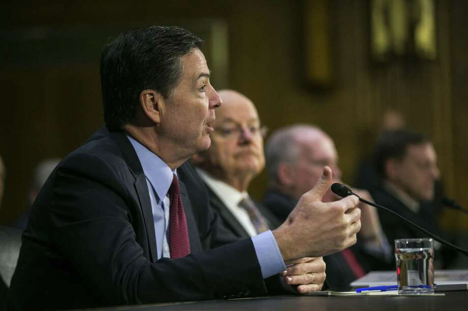 James Comey, director of the FBI, speaks during a Senate Intelligence Committee hearing in the Dirksen Senate Office Building, in Washington, Jan. 10, 2017. Comey this week asked the Justice Department to publicly reject President Donald Trump's assertion that President Barack Obama ordered the tapping of Trump's phones, a claim Comey says is false, officials said. Photo: AL DRAGO /NYT / NYTNS
