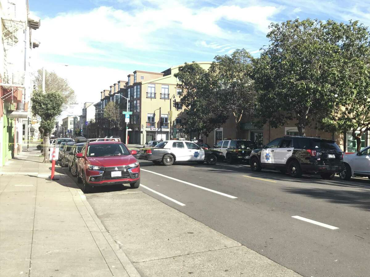 Police in San Francisco closed Valencia Street between 16th and 17th streets on Friday afternoon as they tried to make contact with an armed person barricaded inside a building.