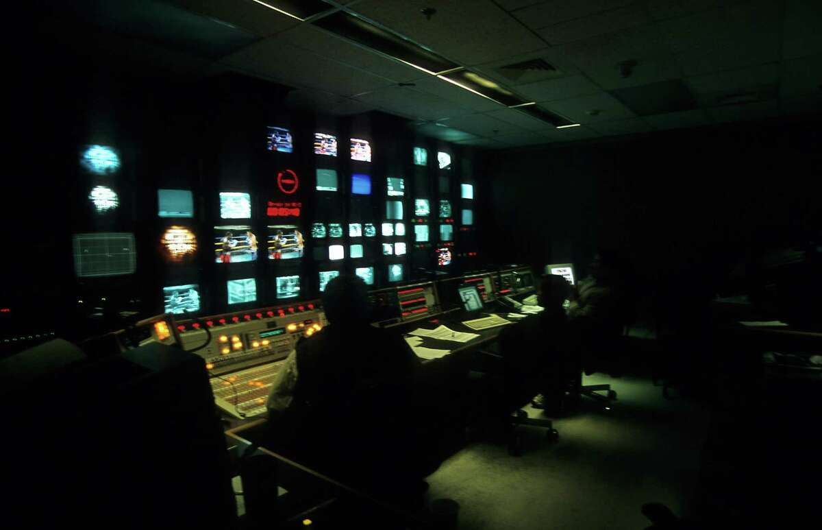 A general view of the control room at ESPN taken on May 2, 2001 in Bristol, Conn.